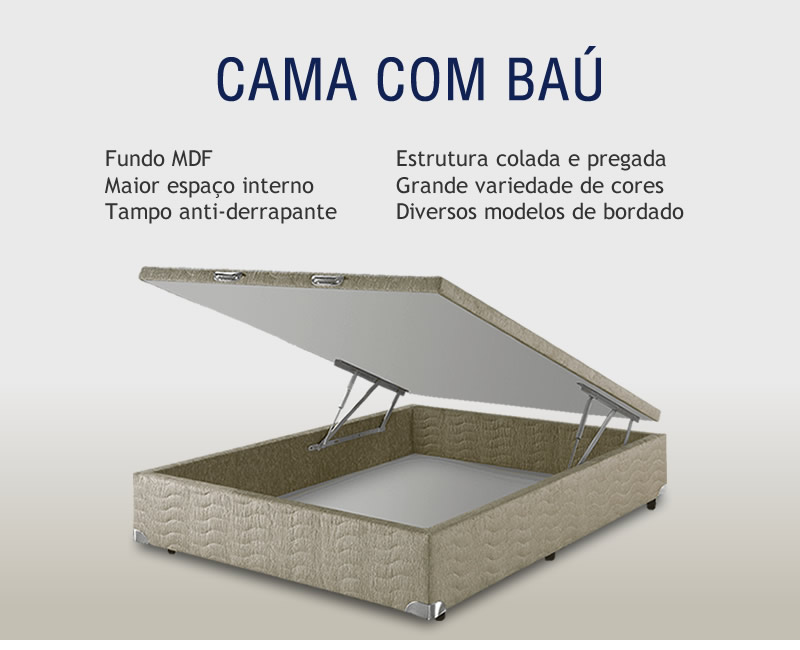 Cama Box com Baú TechBox